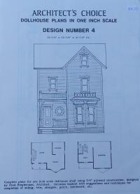 1:12 Scale Doll House Plans:  Design Number 4 image